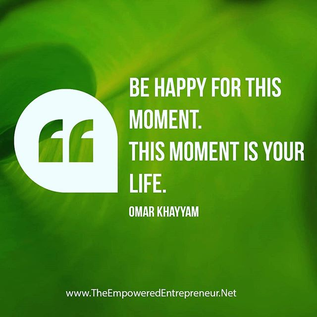 Mindfulness involves living in the moment. Spend the moment being happy and be mindful of your happiness.
