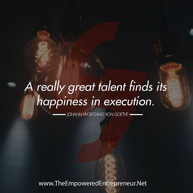 Are you executing your talents? If not, what's stopping you?