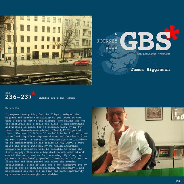 Day 236-237: A Journey with GBS, my journey, are daily posts to share my navigation through this insidious disease. I hope to raise awareness of GBS and add to a dialogue of the syndrome while documenting my recovery. JOIN ME, Follow me on Instagram and repost/share to help spread awareness and share survivor love!!! #jameshigginson #GBS #gillianbarresyndrome #gillianbarresurvivor #thiscanhappentoanyone