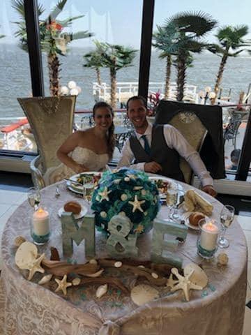 This amazing couple had us decorate their entire wedding! The bride provided us with a few photos of what she envisioned and we turned it into a reality.