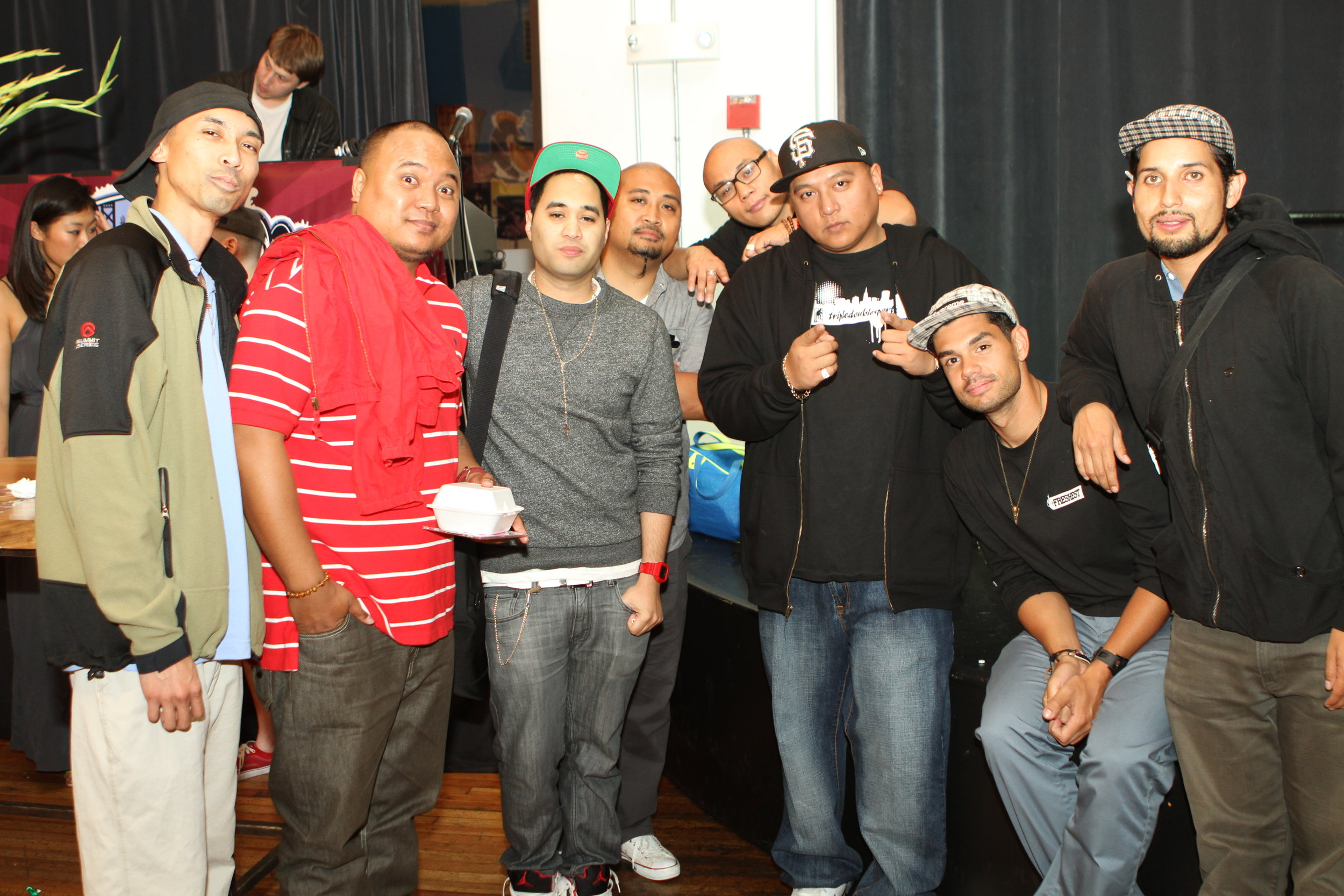 Ariel, Kuya Rols, Prince Aries, Neil Armstrong, Brian Velasquez, DJ Marvel, and King Most