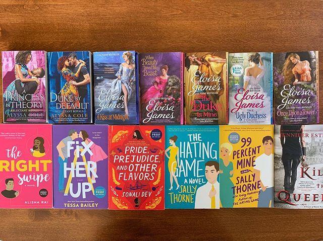 I'm ready for you KissCon!!!! Bring it on!!! 💋 📚 . . #alyssacole #eloisajames #alisharai #tessabailey #sonalidev #sallythrone #jenniferestep #kisscon #avon #romance #bookevent #literarylovebooks #biblio #bibliophile #bookjunkie #bookaddiction #bookhoarder #mybookfeatures #soexcited #bookobsessed