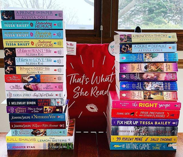My book haul from KissCon is on the left! The books I already had are on the right. All were signed. All were lugged around most of the weekend. My back hurts soooo bad! . . So this is my #bookhaul #bookstack and #shelfie all in one. I cannot say enough how much fun I had this weekend. I made new friends and got to meet some of my heroes and discover new heroes. It was amazing and even though I'm dog tired I'm so sad it's all over!!! . . A huge thank you to @avonbooks for this event!!! Making us introverts come out and be social is no easy task. . . I will post more pictures with swag throughout the week. But for now. Bed! . . #bookaesthetic #bibliophile #bookcollector #bookobsessed #bookhoarder #books #romance #biblio #bookish #bookishfeatures #mybookfeatures #literarylovebooks #thatswhatsheread #kisscon #avonbooks #bookstagram #swag @avonbooks