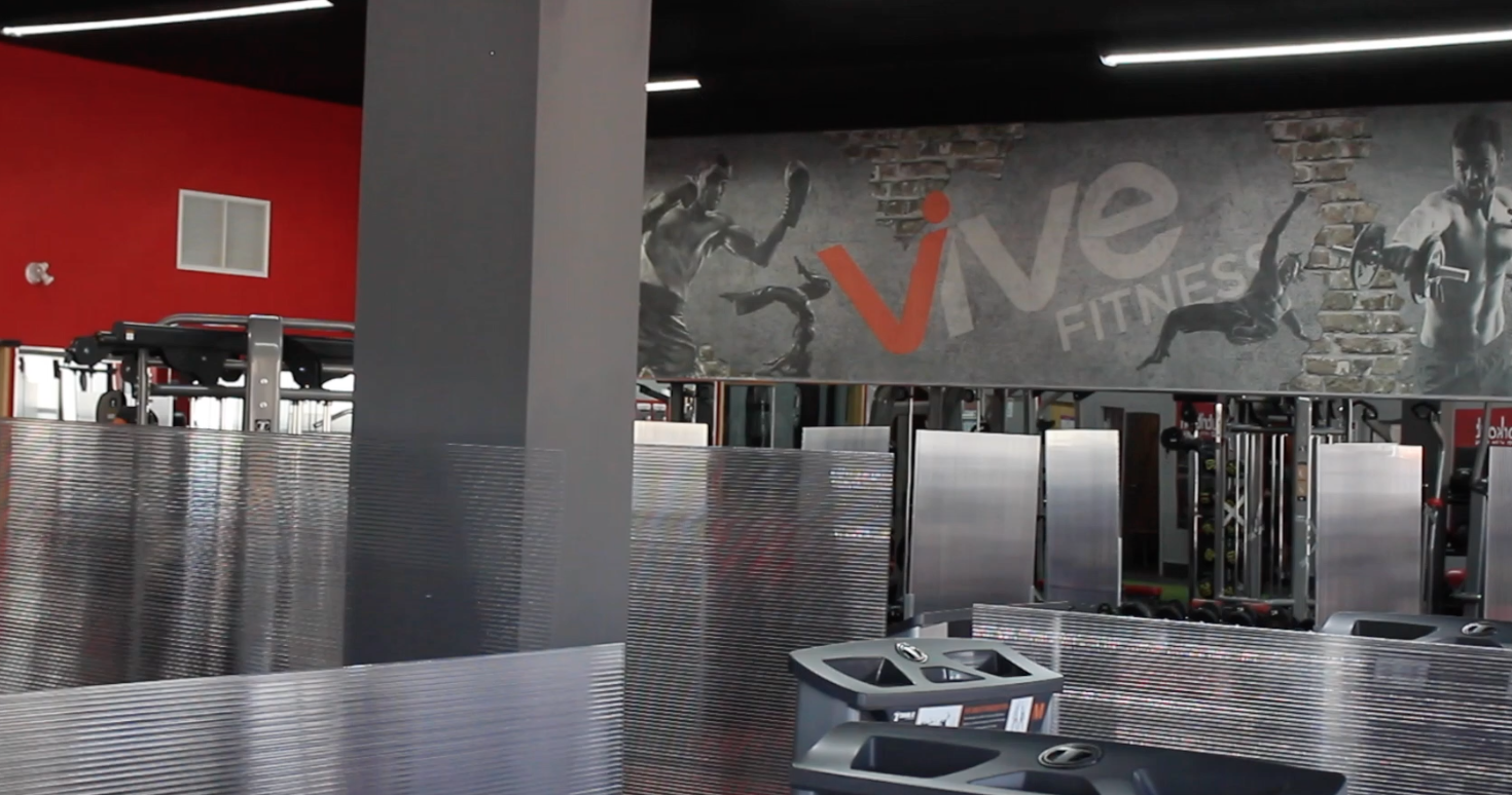 Vive Fitness installed glass in all work out stations.