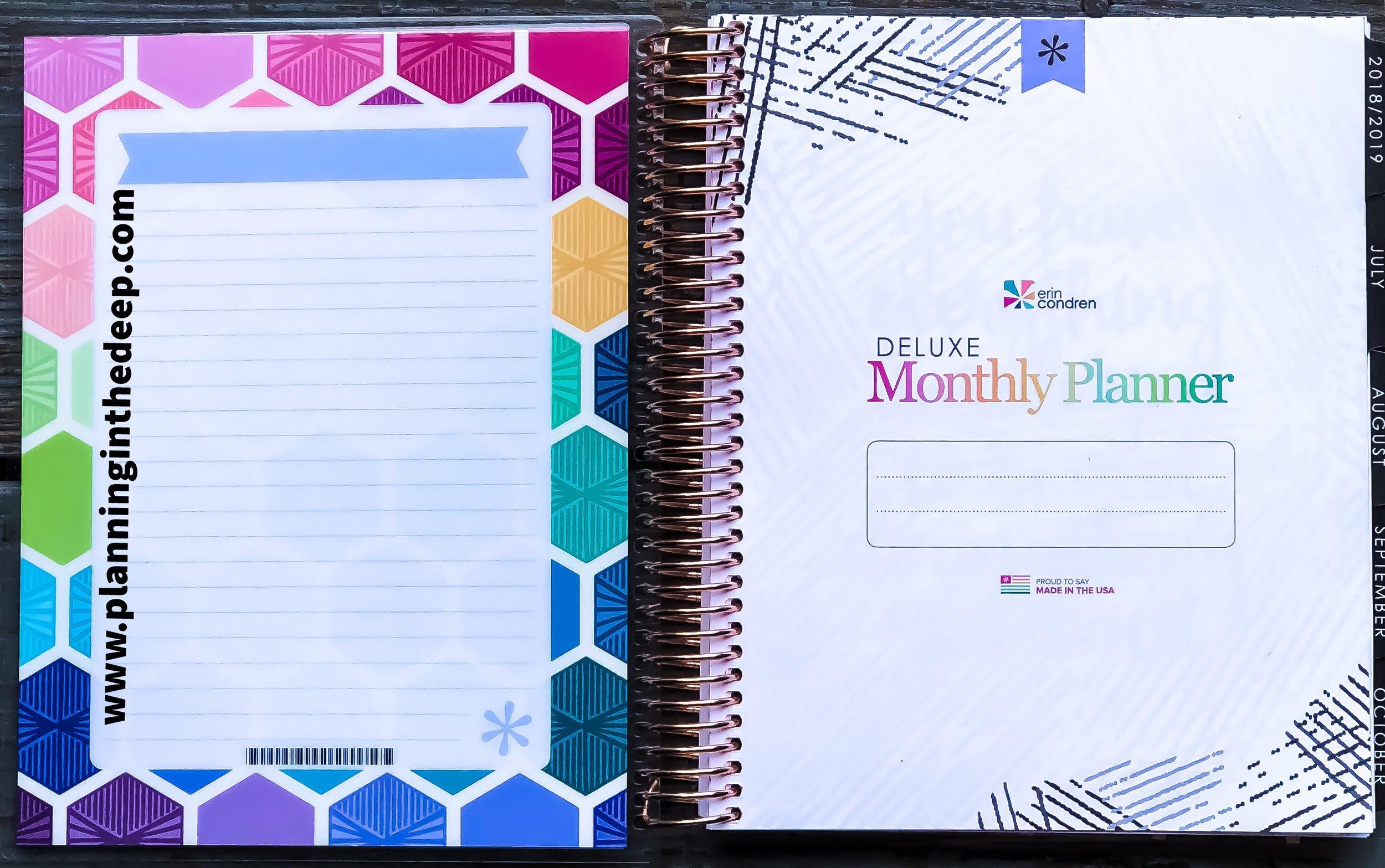 Erin Condren Monthly Life Planner