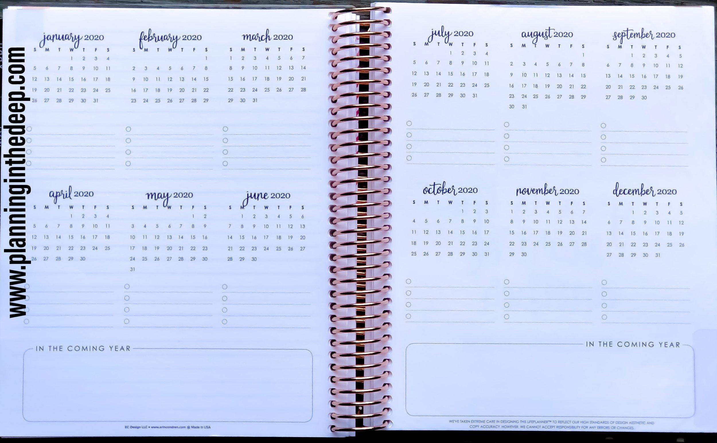 2018 Erin Condren Monthly Deluxe Life Planner