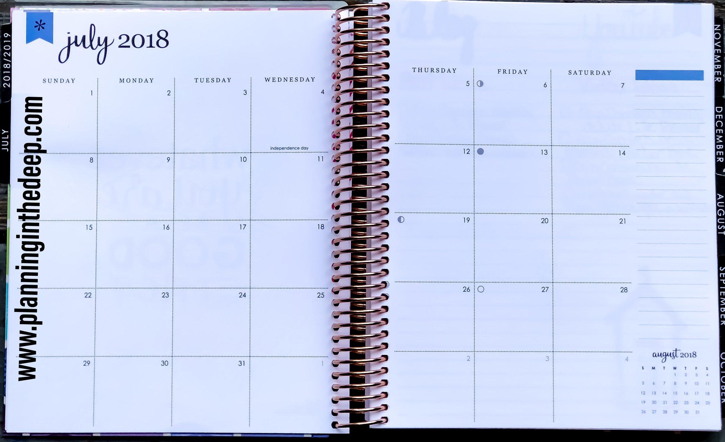 Erin Condren Monthly Deluxe Planner