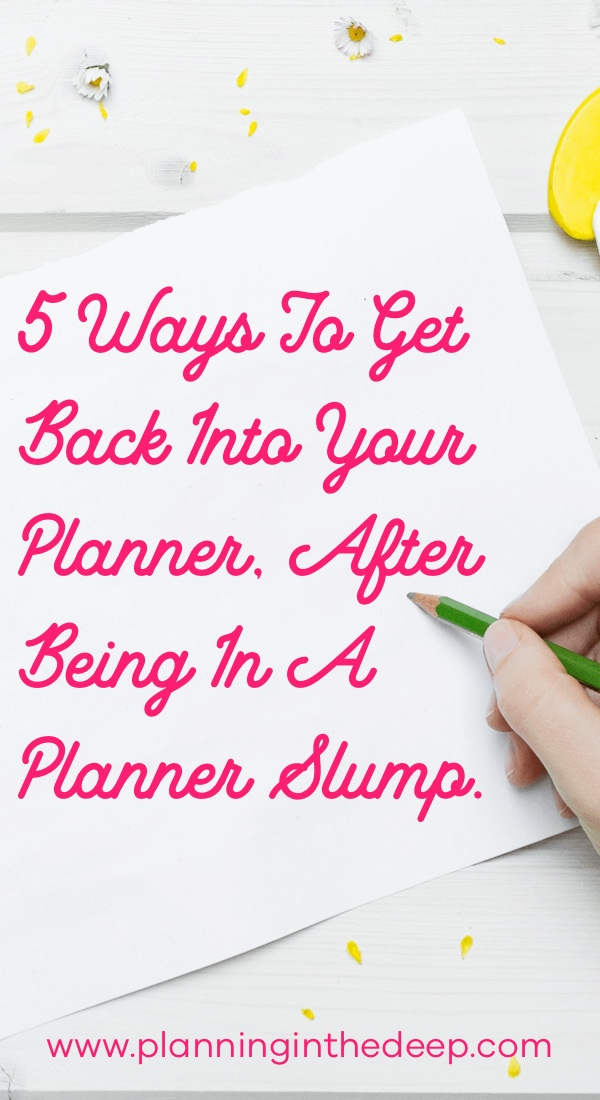 Paper planning inspiration