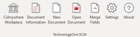 RedOffice Add-in for TechnologyOne ECM ribbon