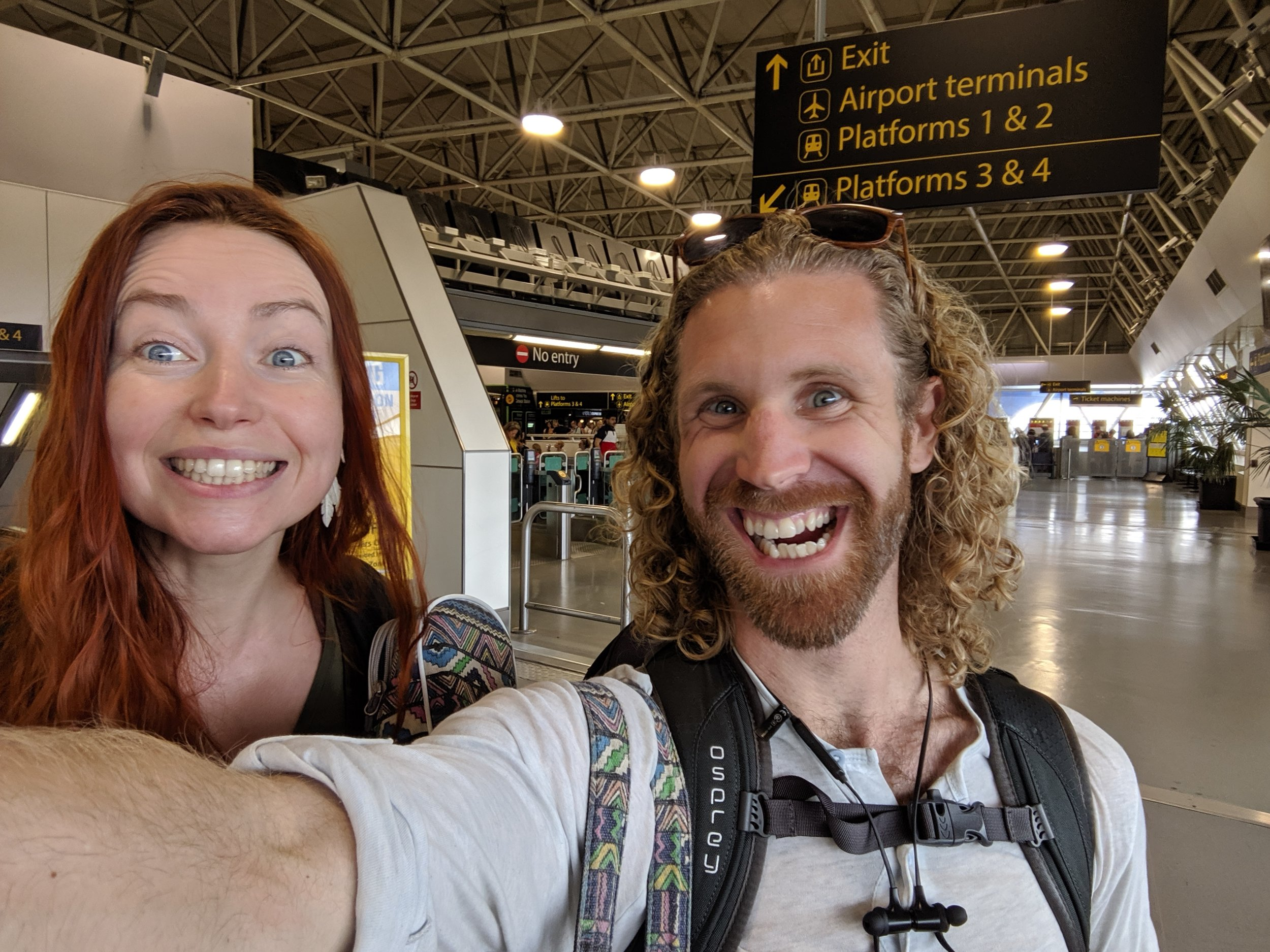 @Xerephine musica  Cead Mile Failte (a thousand thanks!) for your help navigating London airport and train systems! Im obviously insanely excited about this synchronistic meeting haha! #crazyface