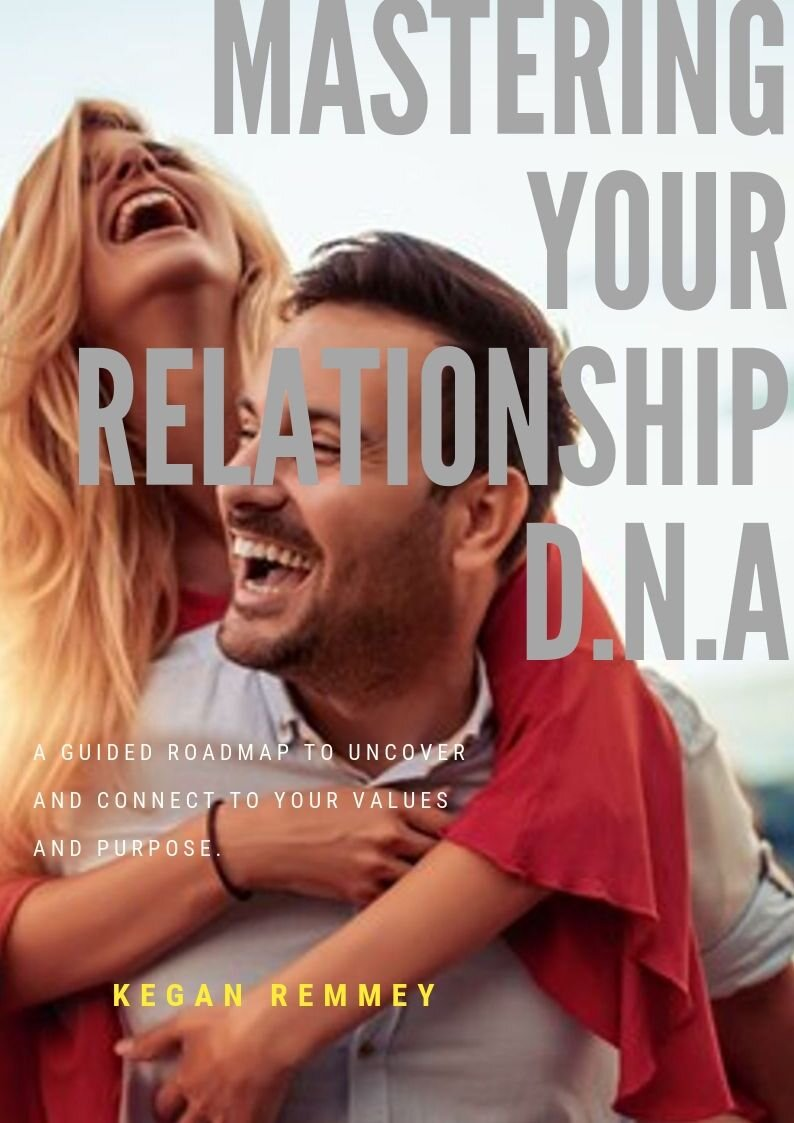 Mastering Your Relationship DNA   A guided roadmap to uncover and connect to    your    values and purpose.    In this fun workbook full of powerful guidance and exciting exercises, you will get in full alignment with your values, what makes you come alive and how to connect those things to the people you are meeting in the world. This book has been highly-regarded and heavily praised by those who have completed it for helping them to get clear on their purpose, their vision and to take ownership of their focus and direction in the world.   Available for Instant PDF Download Below.