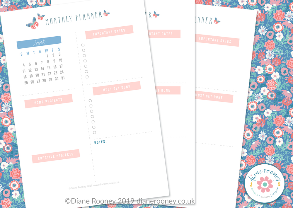 August 2019 Free Planner Page Printable