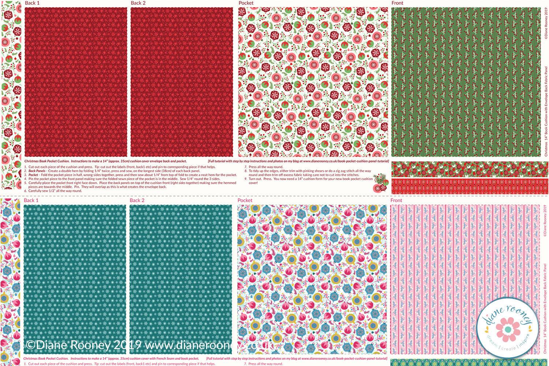 Diane Rooney Christmas Pocket Fabric Panel 2019