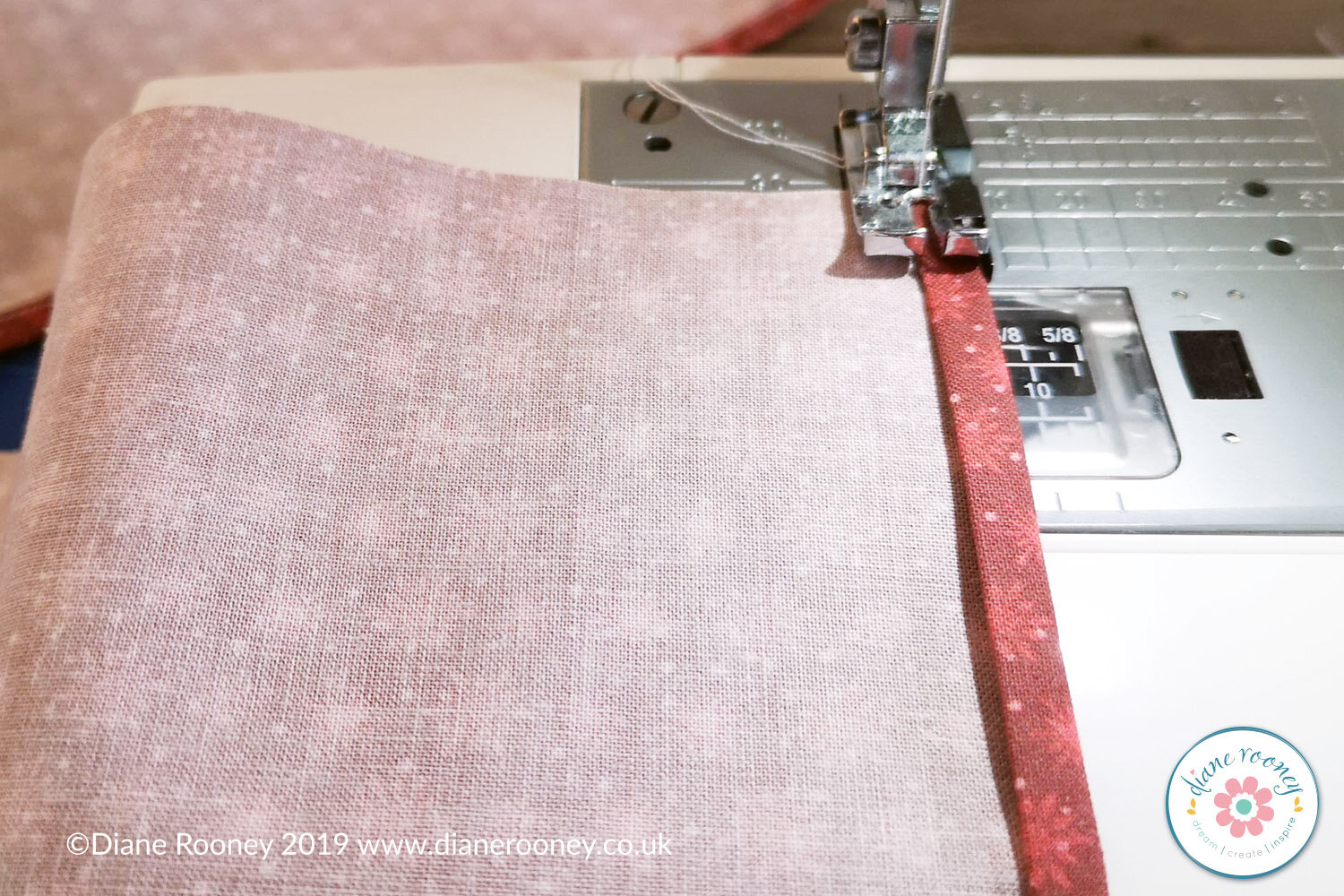 Sew straight stitch on each of the back panels to create a neat seam