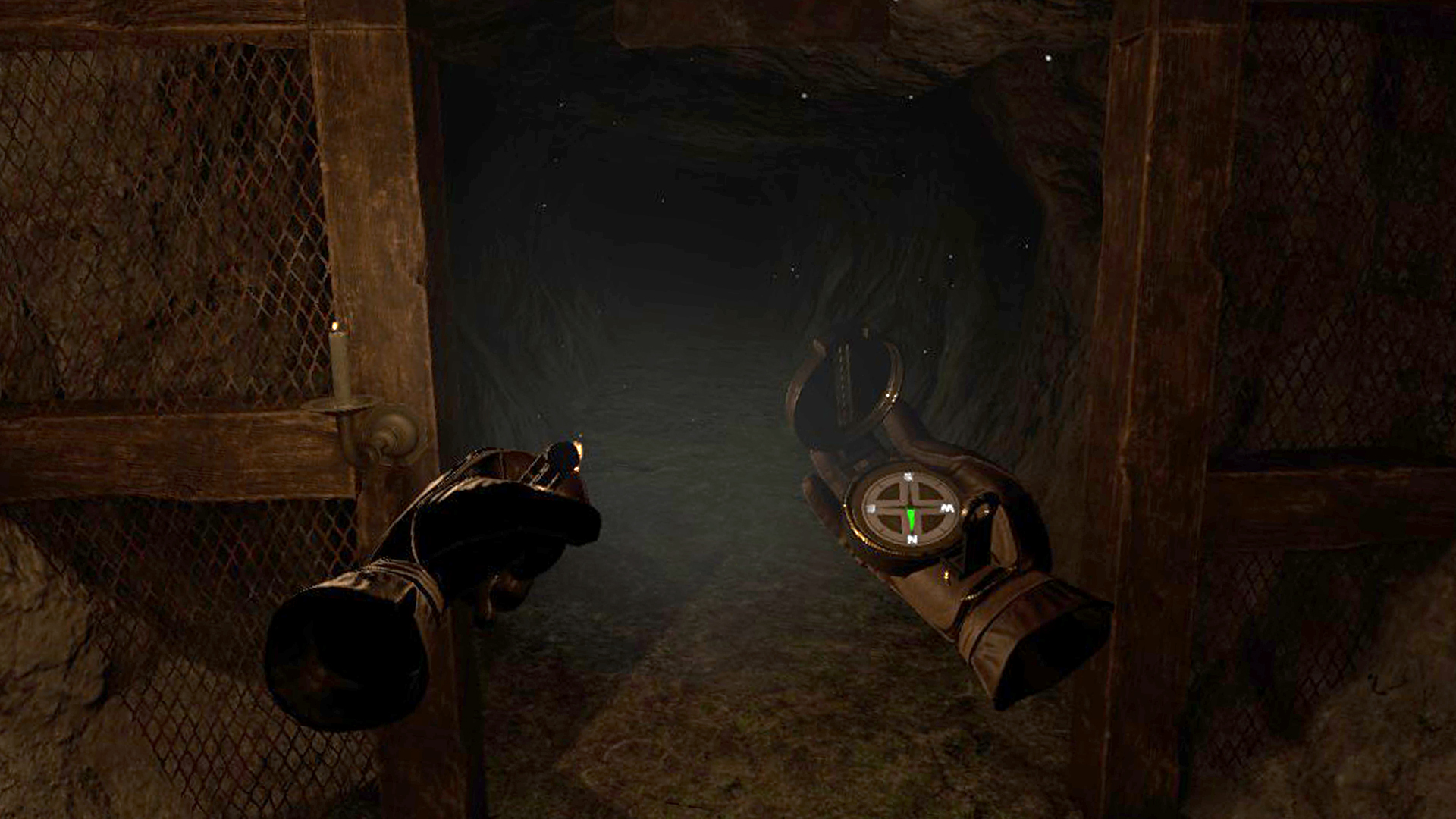 Navigate through the winding tunnels beneath the coal mine.
