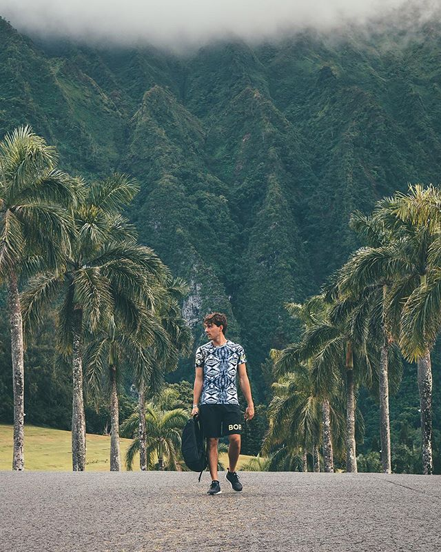 "Strolling through Hawaii like: ""there ain't no green colors going or escape me"". Edited with the Hawaii Preset from the Travel Preset Pack ✈️. Available both for Lightroom mobile + desktop 🖥 📱#ollivvespresets"