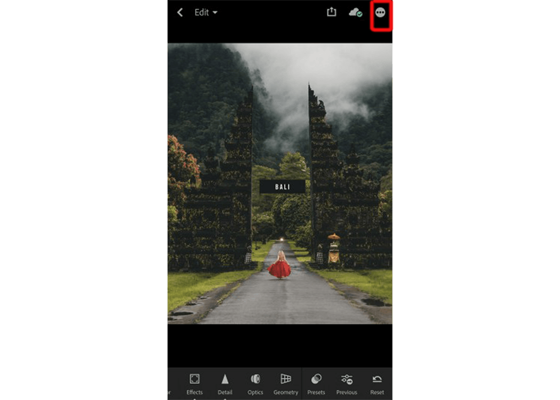 You should now see the preset picture. Choose the 3 dots on the top right to make it a preset