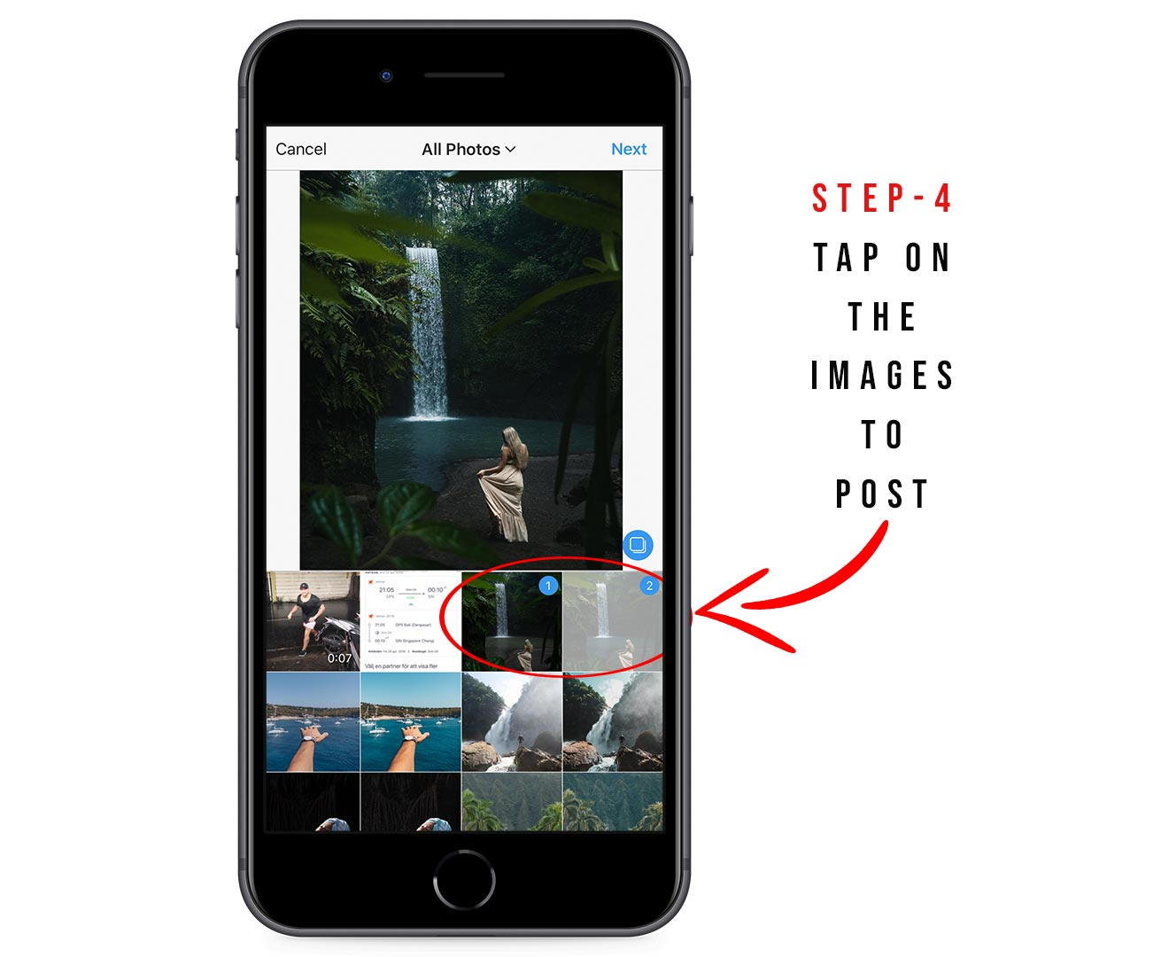 How to do an Instagram carousel post