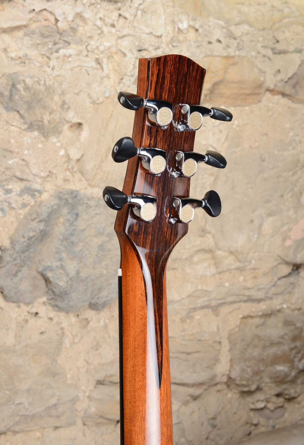 Beautiful reclaimed mahogany neck and Gotoh 510s