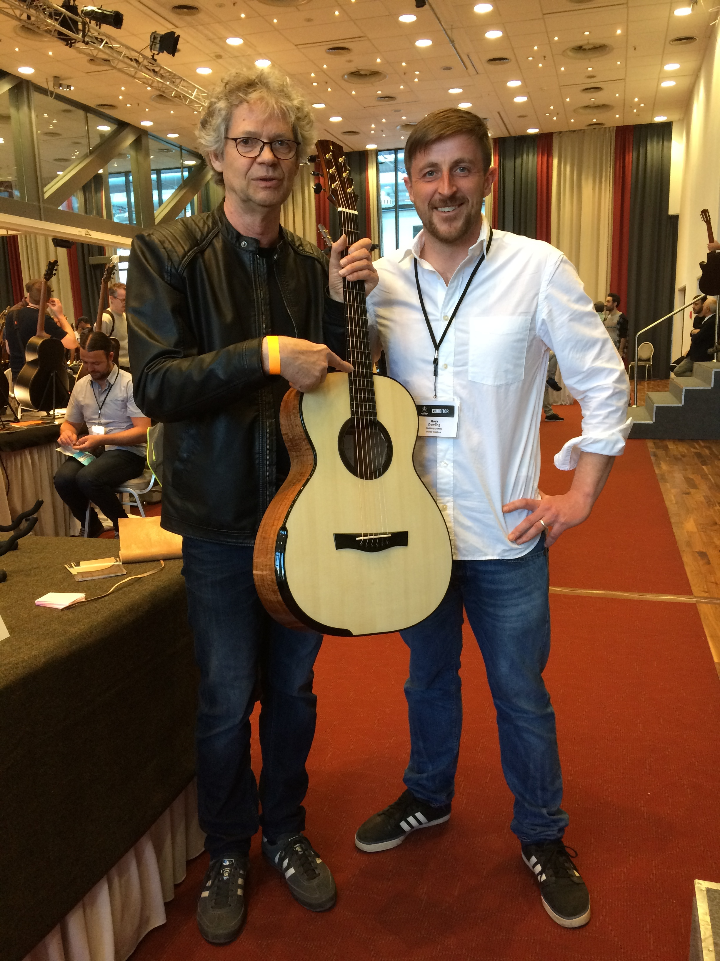 Gerd Anke of the Plek company. He said that the fret work on this Tirga Mhor was some of the best he had ever seen. Thanks Gerd, that is a serious compliment!