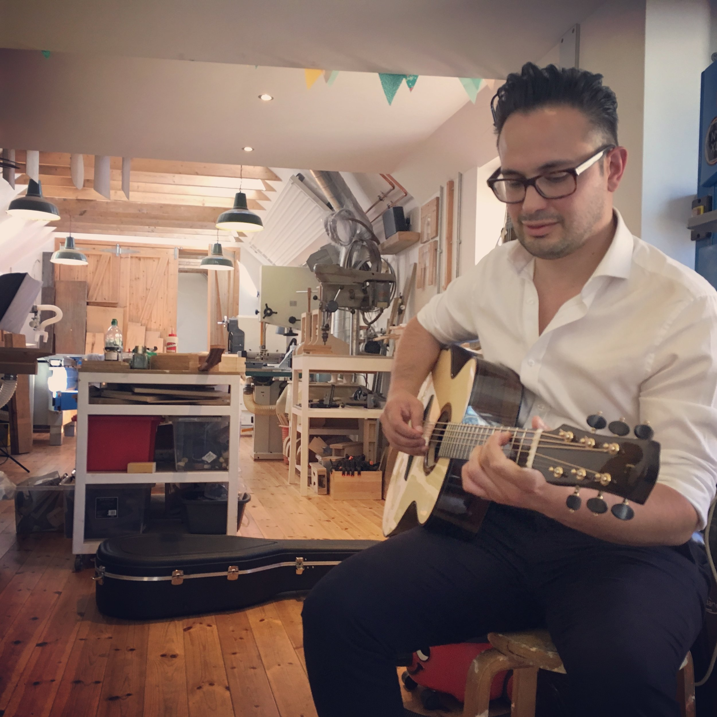 Mr Michael Watts and Taran Guitars