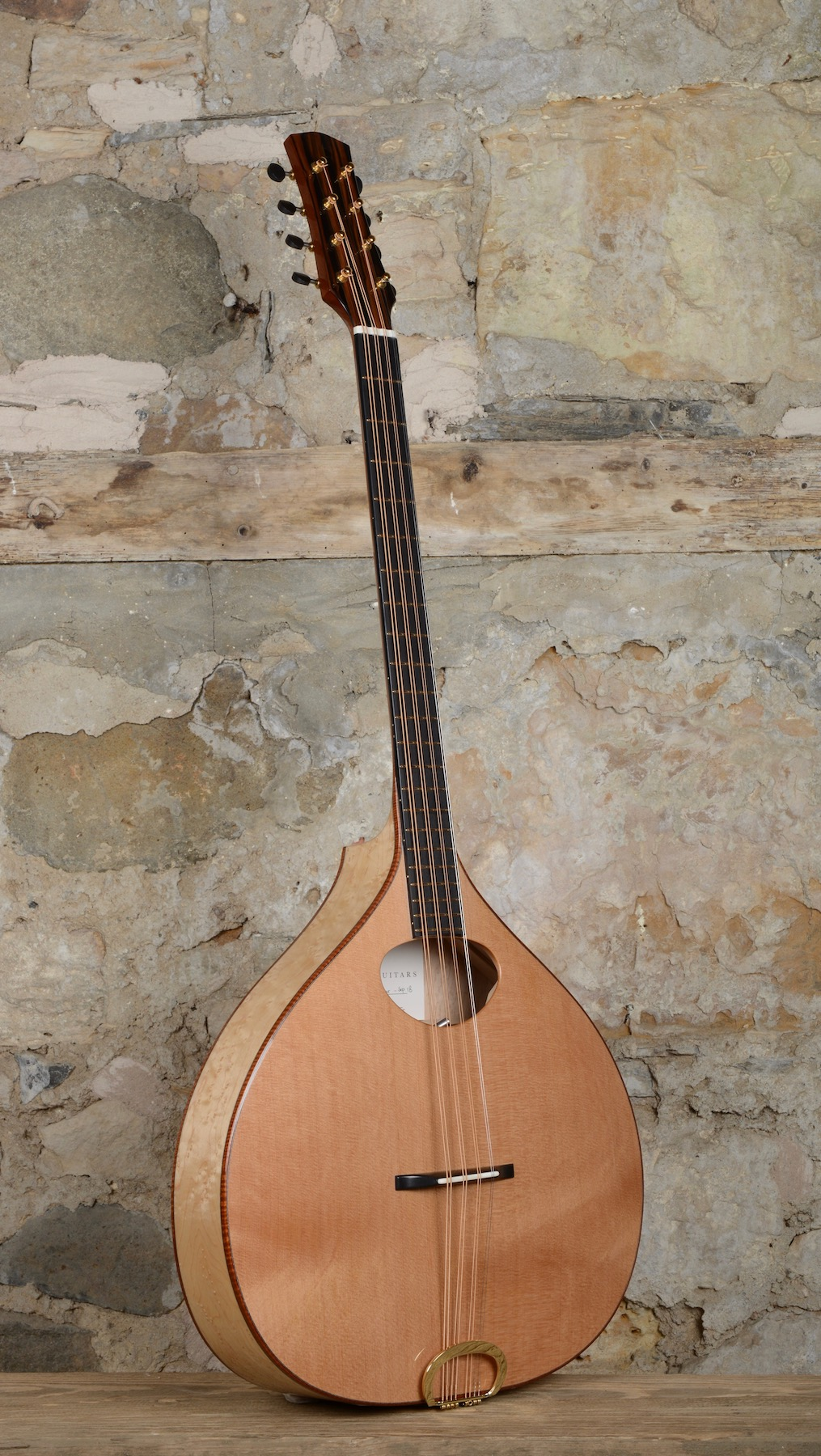 Hand Carved Cedar arch top Bouzouki
