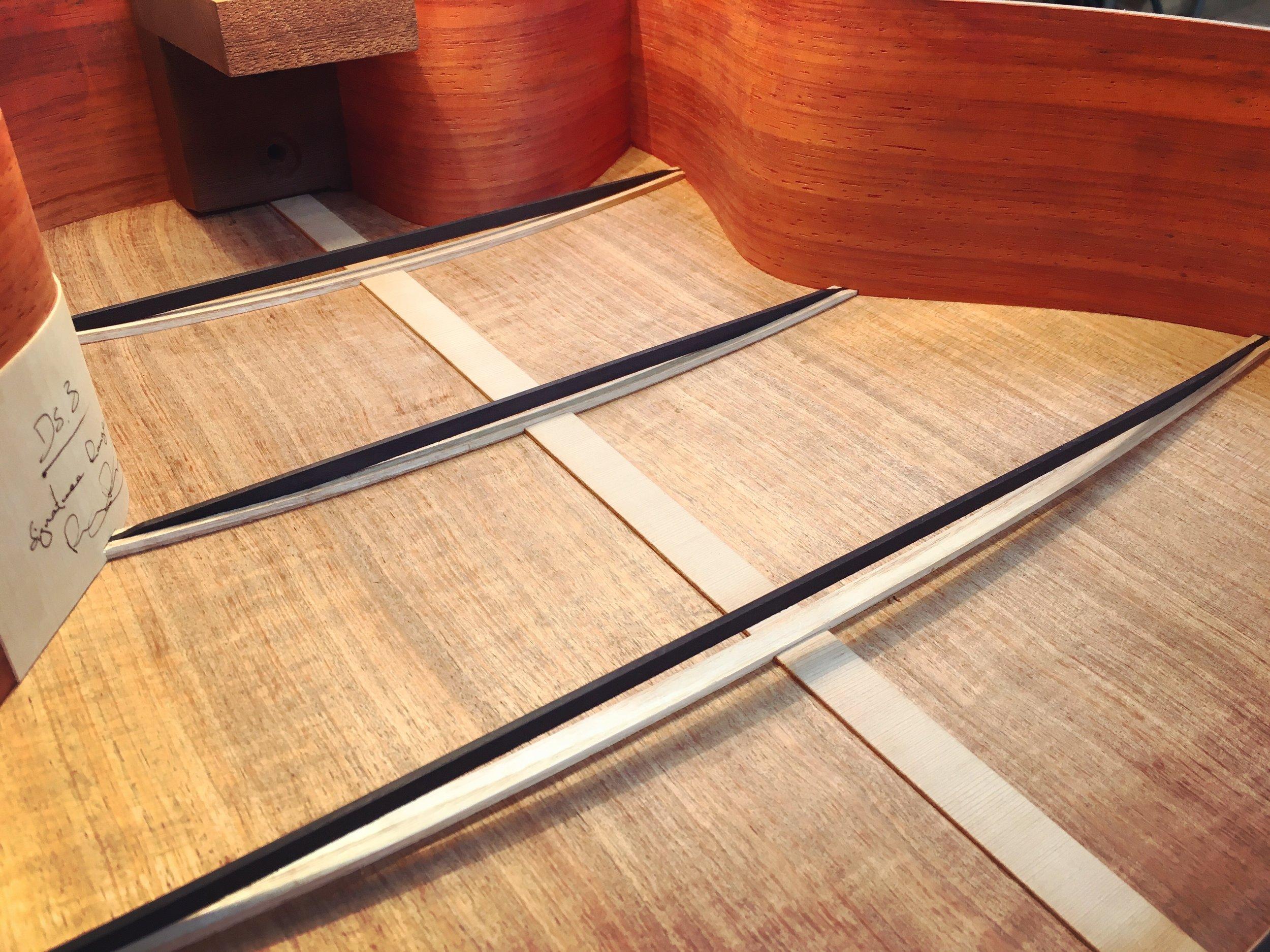 Copy of The first Compression Braces  Taran Guitars 03