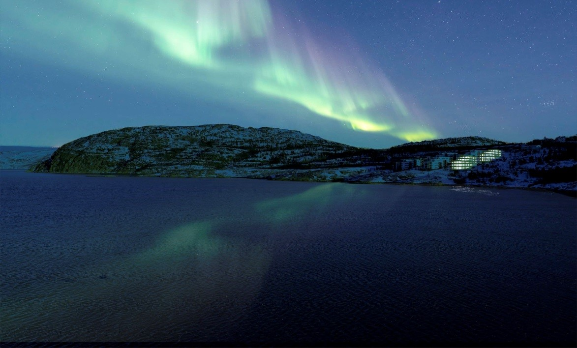 Northern lights in the Polar Night