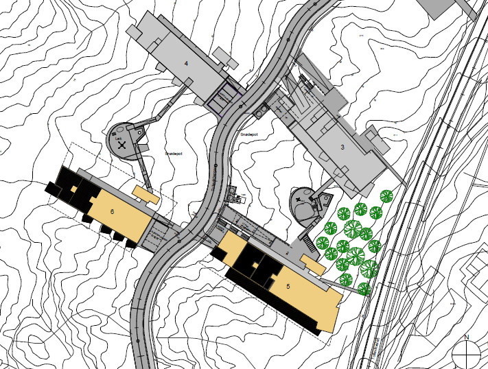 Map of the buildings
