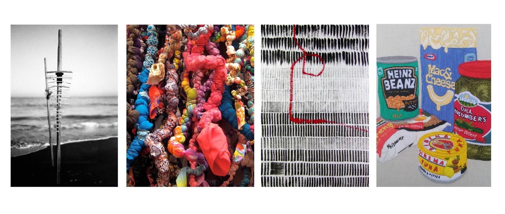 Artworks by (L to R): Jody Loaring, Tomoko Yamada, Jacky Cheng & Regi Cherini