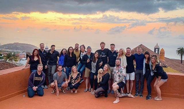 REUNITED AT NINE • We had so much fun hosting the Kaizen Group Remote Year Reunion last week! . You guys were the best ❤️🌴☀️💃🍷 . . @remoteyear . #remoteyear #remoteyearkaizen #rykaizen #rykaizenreunion #rynation #aremoteyear #reunion #ryreunion #workremotely #traveltheworld #coworking #workandparty #reunited💕 #kaizengrp  #kaizen #tenerifelife #coworking #coworkingcoliving #rooftop #ry