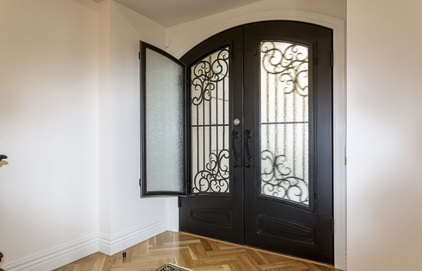 Featured Adoore Wrought Iron Door. source: comdainhomes.