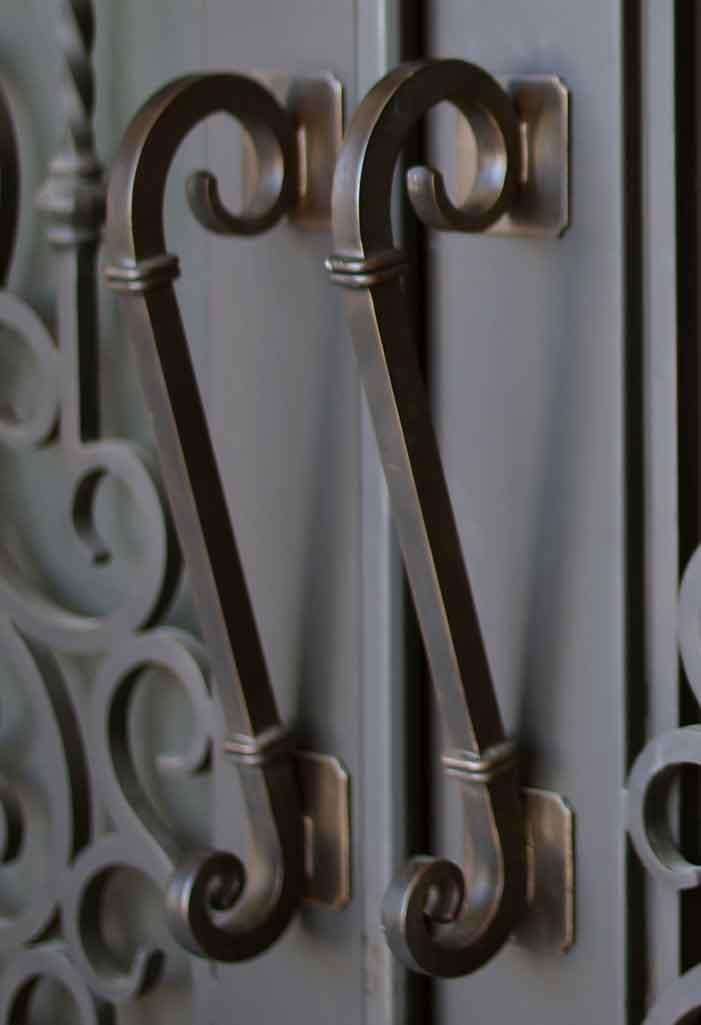 wrought iron door melbourne