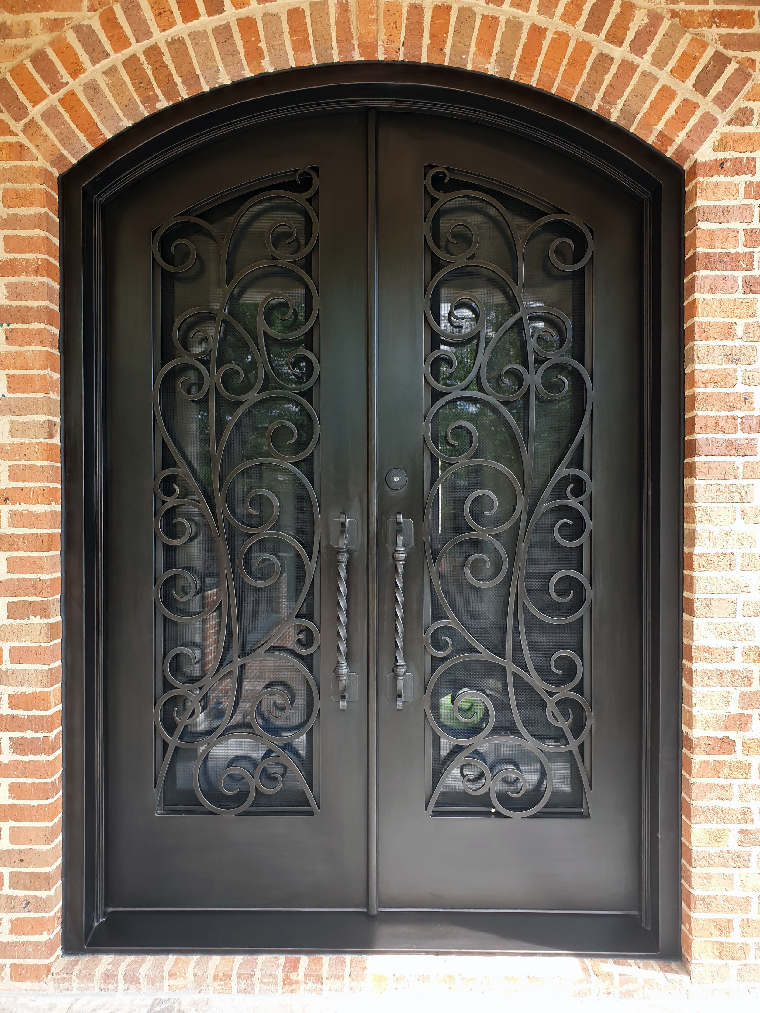 Traditional style wrought iron door | Melbourne