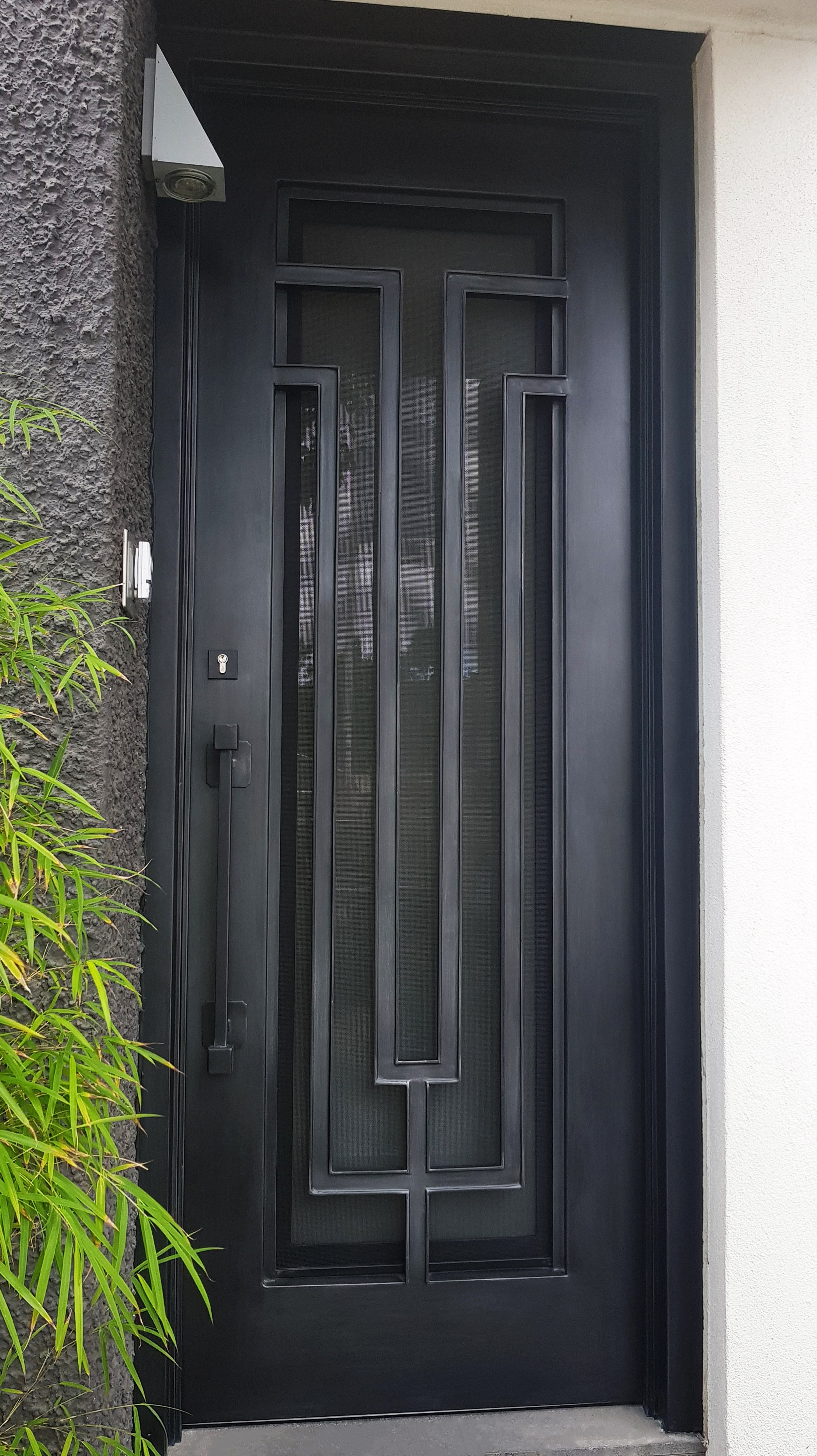 Modern style wrought iron door | Melbourne