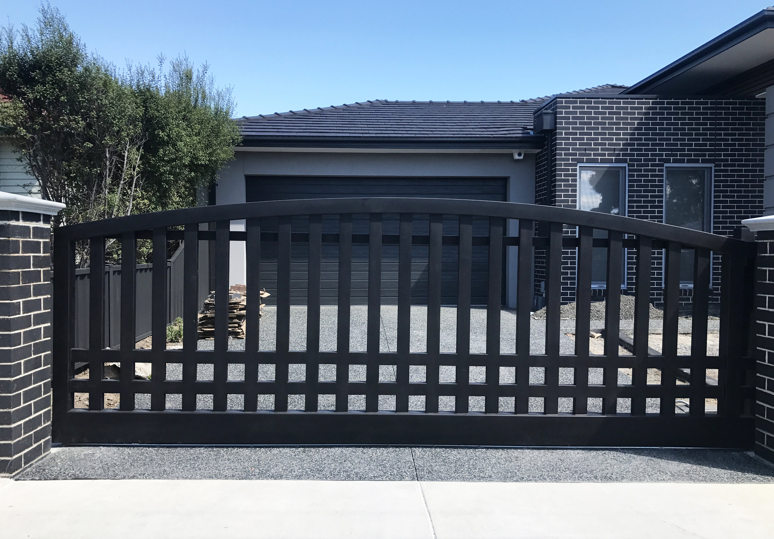 Modern style wrought iron gate| Melbourne