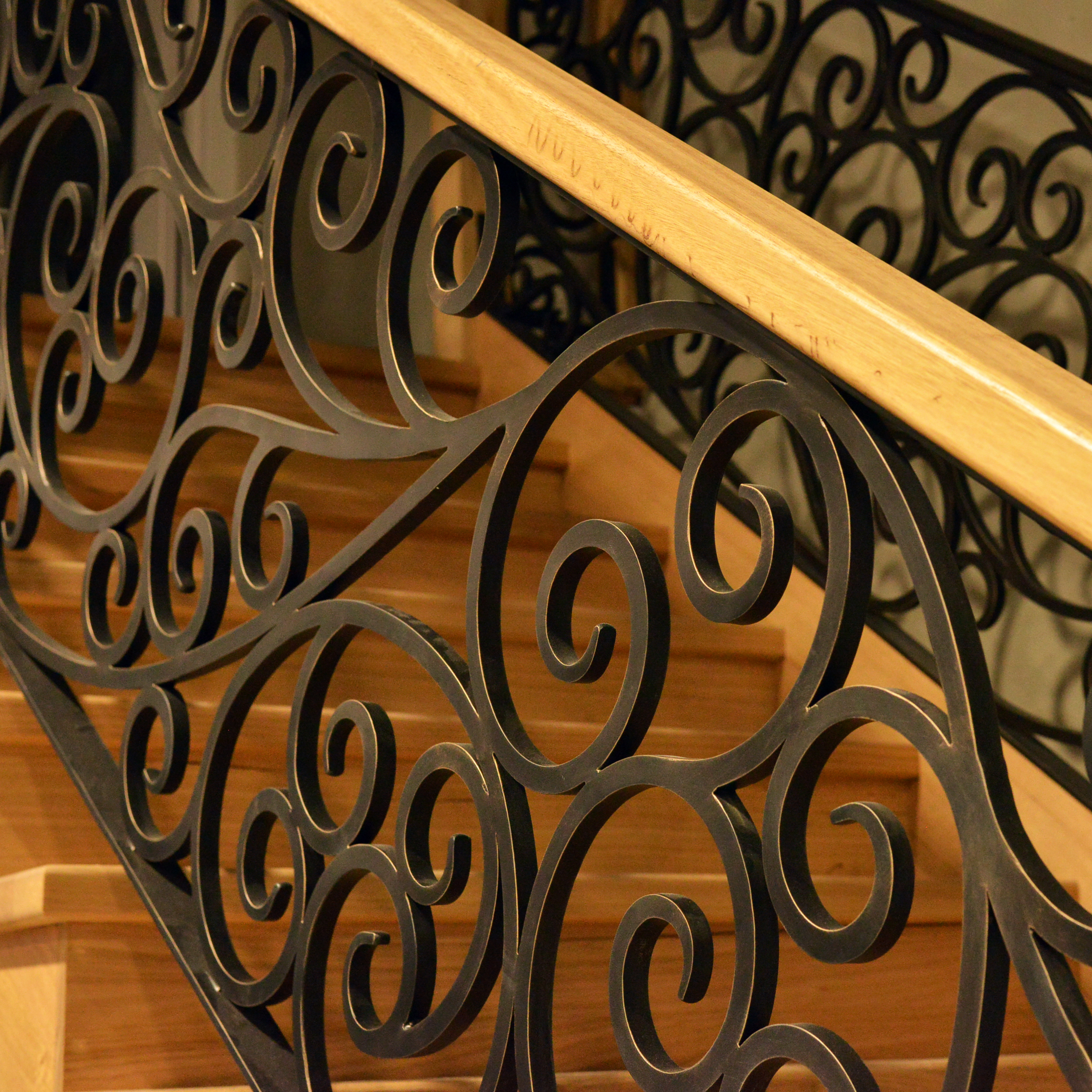 Wrought Iron Staircase Railings, Melbourne - Brunswick