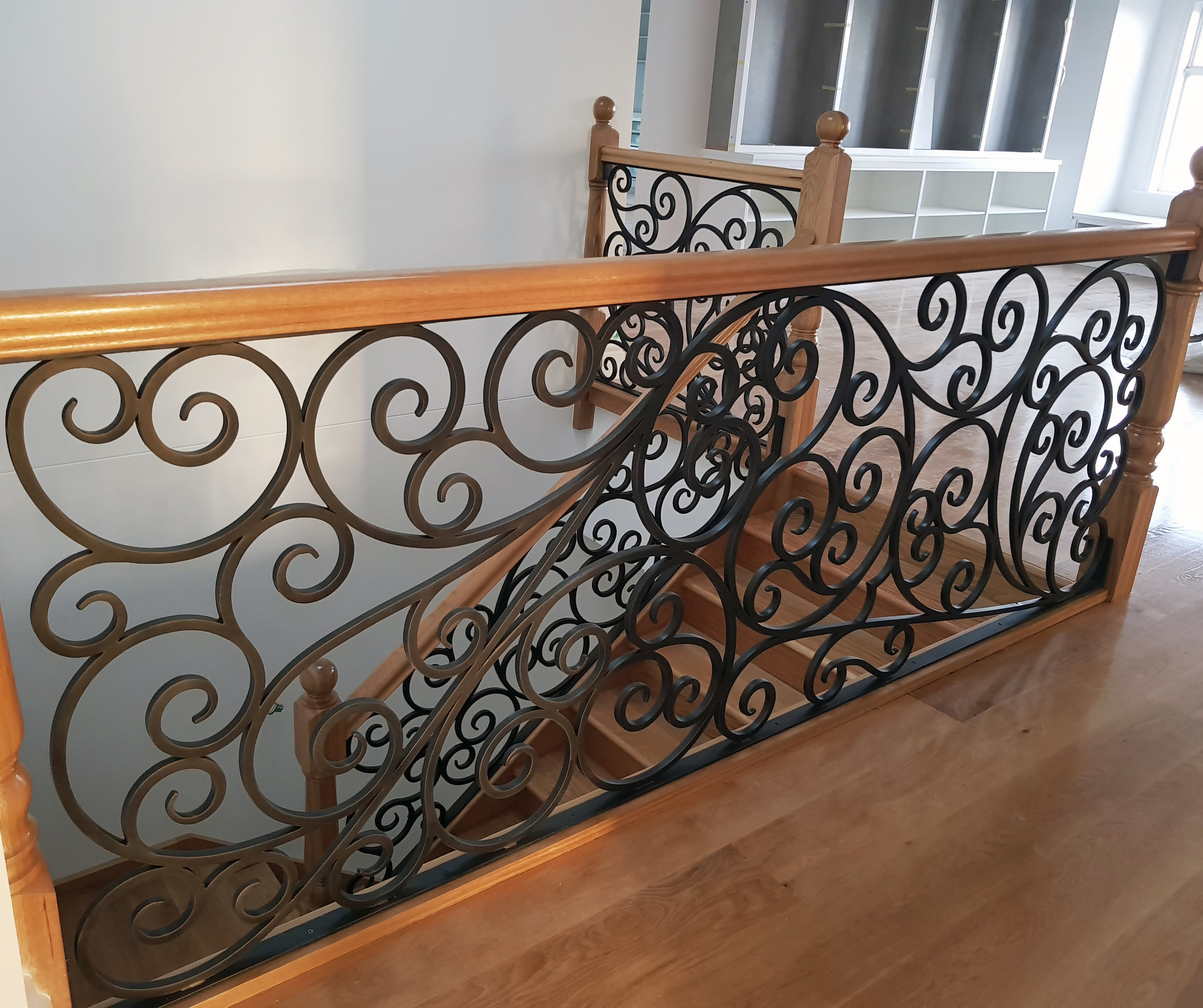 Wood and Iron Staircase Railings, Melbourne.