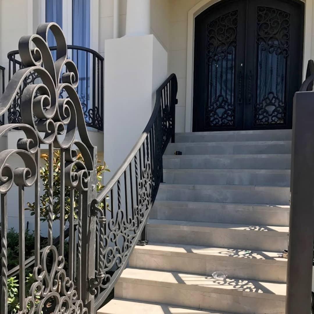 Wrought Iron Gate, Wrought Iron railings, Wrought Iron door | Adoore Iron Designs.