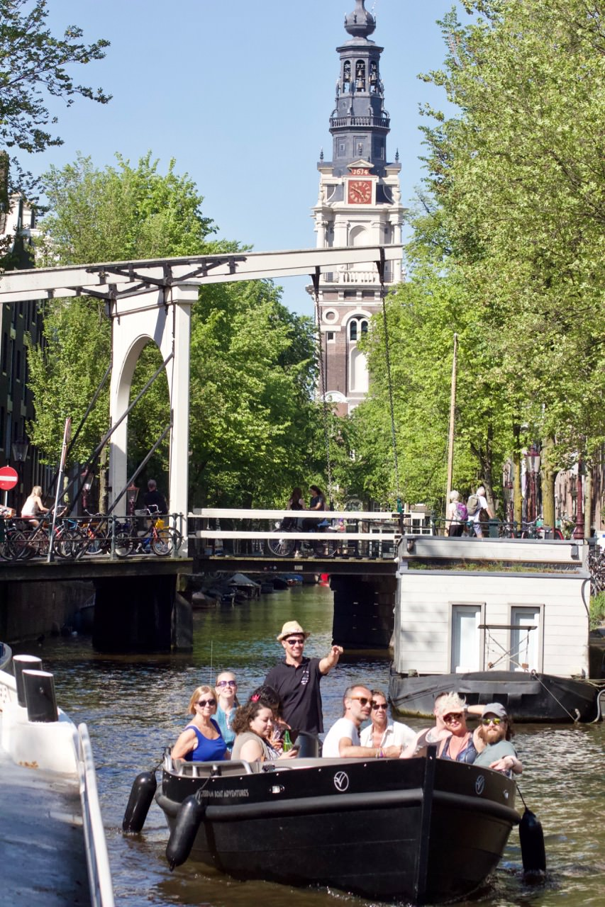 scheduled boat tours & Canal Cruises - The Amsterdam old city center boat tour last 90 minutes.Operates from March through November.Daily departure times mostly at 11:45, 13:30, 15:45 and 17:30. Check booking system for daily availability.Max 12 passengers/customers per boat trip.The cost is € 18,- per adult, € 16,- per student and children up to 12 years old cost € 14,-The Captain speaks English and DutchOur meeting point is centrally located in AmsterdamAlcoholic and soft drinks are available for purchase on the boat (only € 2,- for a can), but feel free to bring your own drinks and snacks along.Rain canopy on rainy dayBoat tour bookings can be made through the bookings page, by email or phone outside of boat tour hours