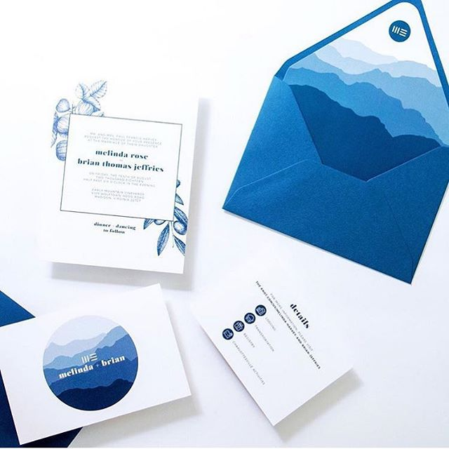The talented @misfitmoon_photography reminded me of this super unique and personalized invitation suite we developed for a recent wedding. It was the best mountain top celebration!