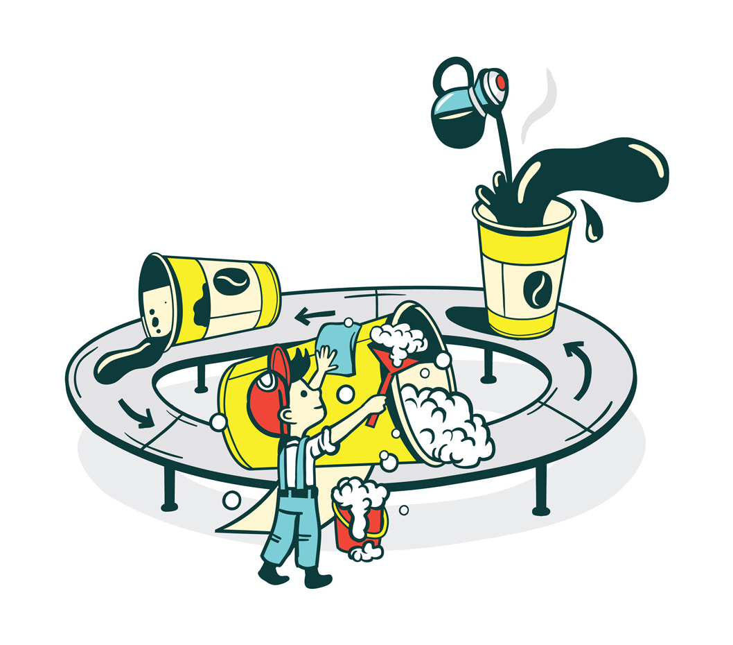 Let´s recycle! (editorial illustration for the Hamburger Wirtschaft magazine)