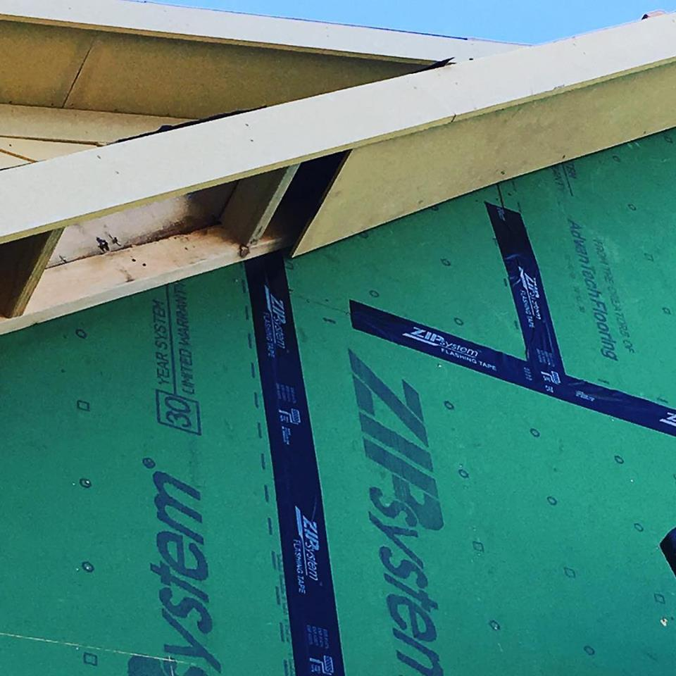 No stone, or zip tape, unturned. Incomplete Zip Tape on a new build in the Heights.