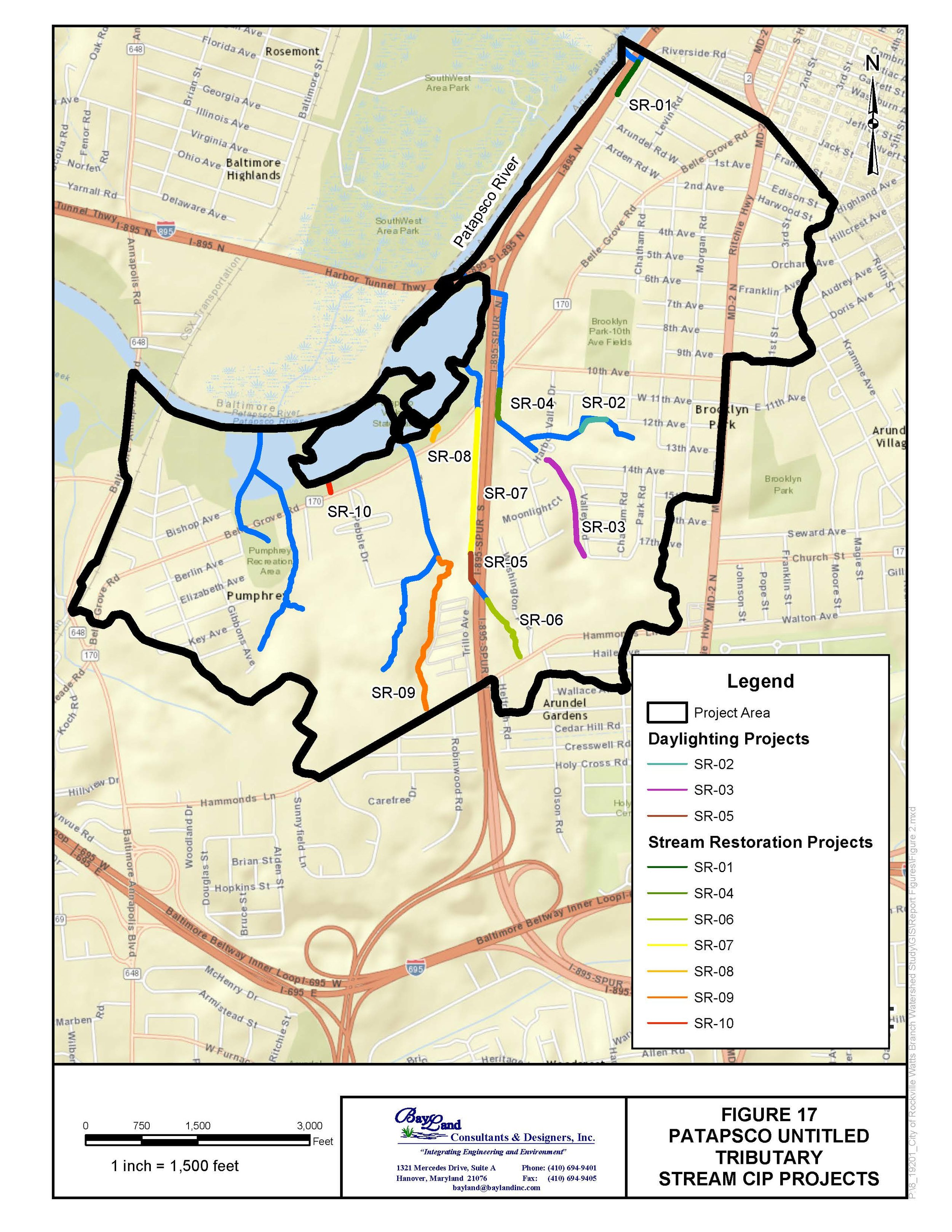 Patapsco Untitled Tributary Watershed BMP Feasibility Study