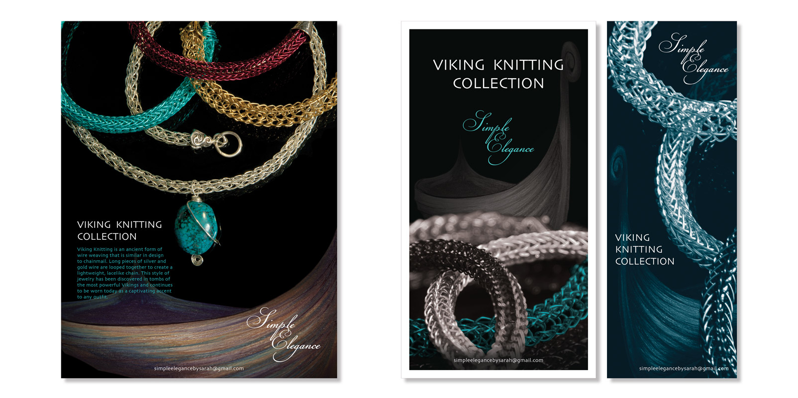 Viking Knitting Jewelry Ads