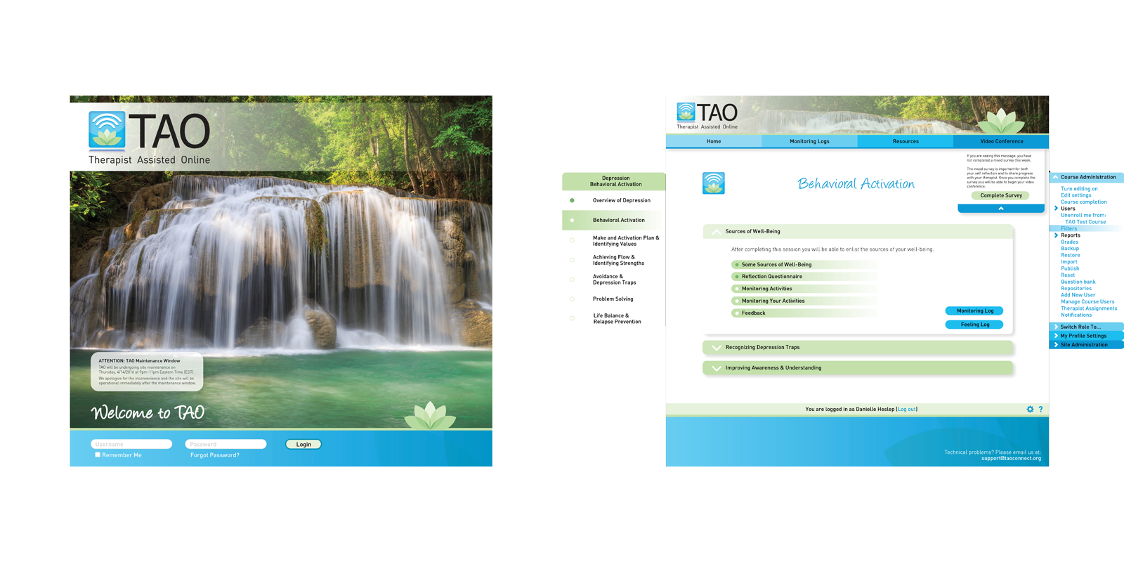 TAO Connect Product Site Mock-Ups