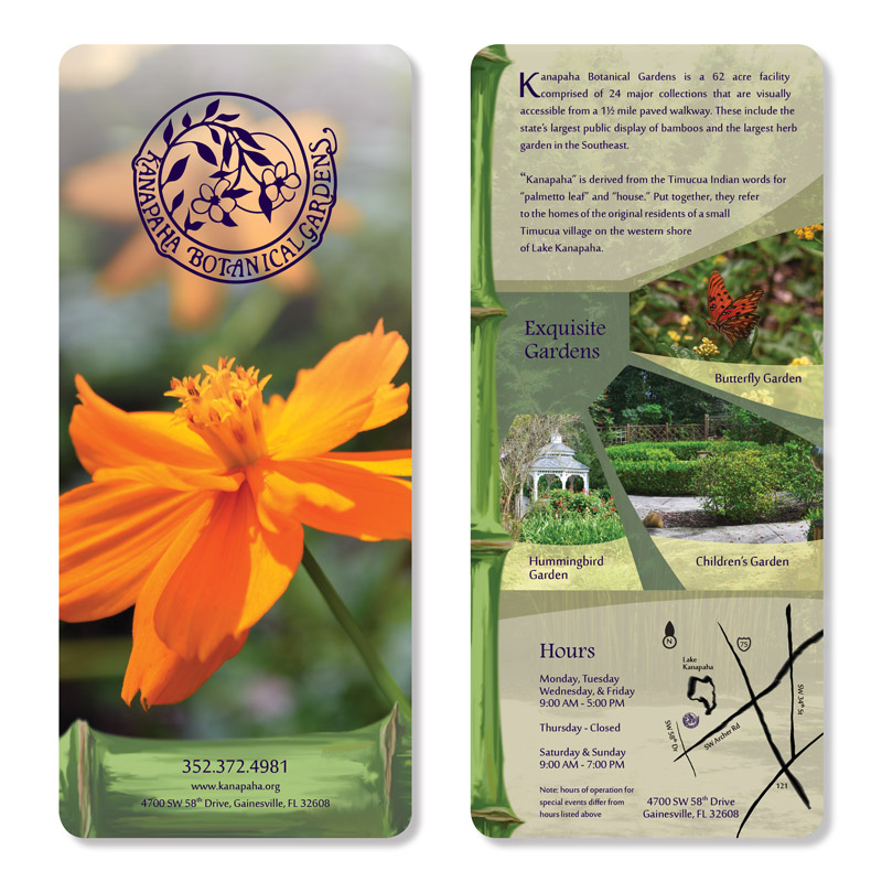 Botanical Garden Rack Card
