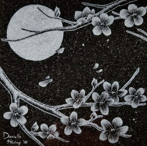Night Flowers - Engraving