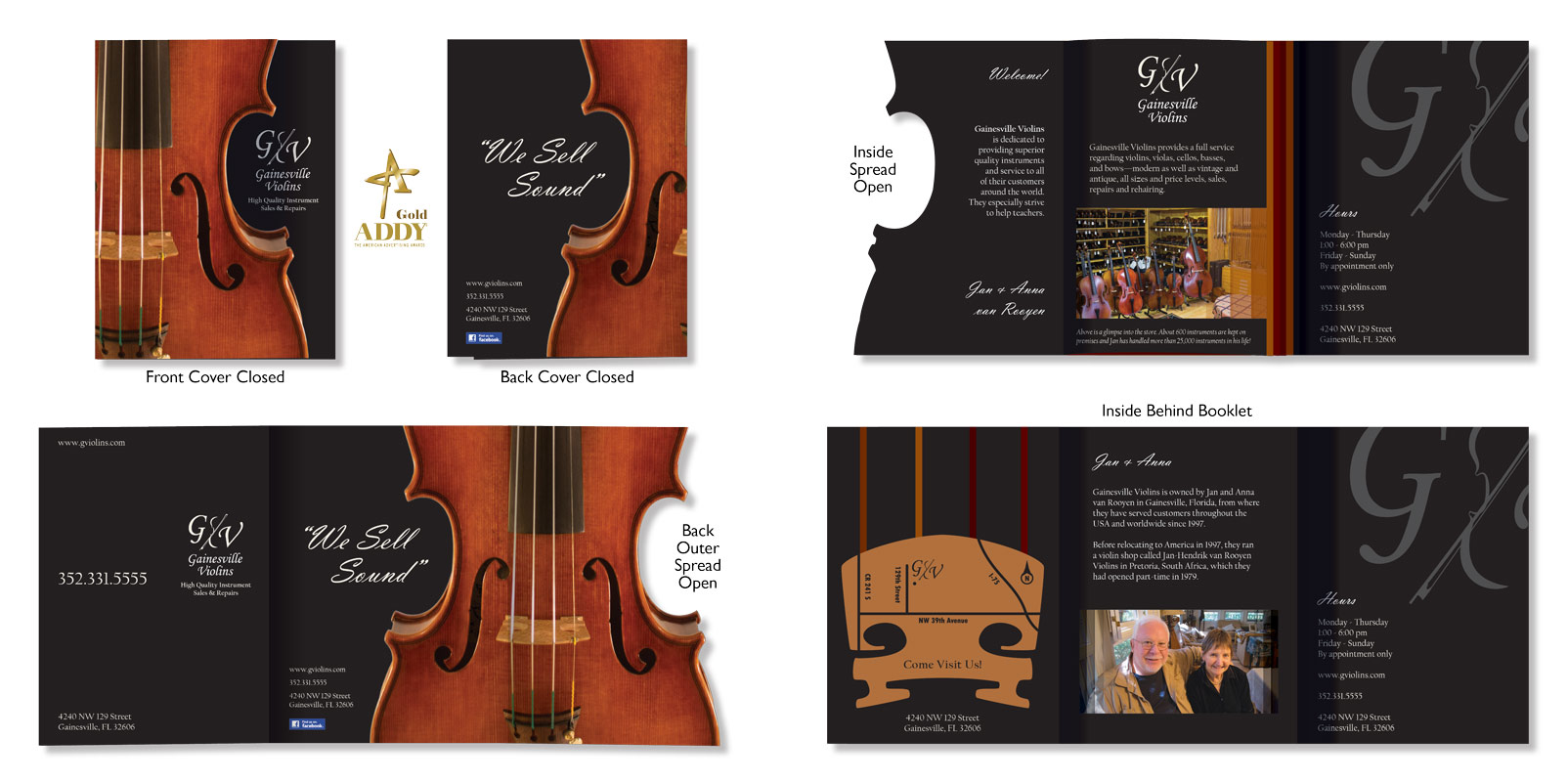 Gainesville Violins Brochure & Logo Design