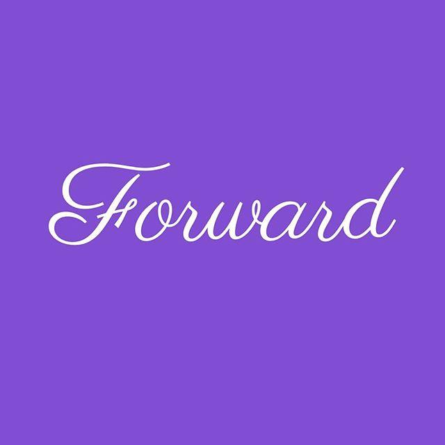 I'll go anywhere as long as it's forward.
